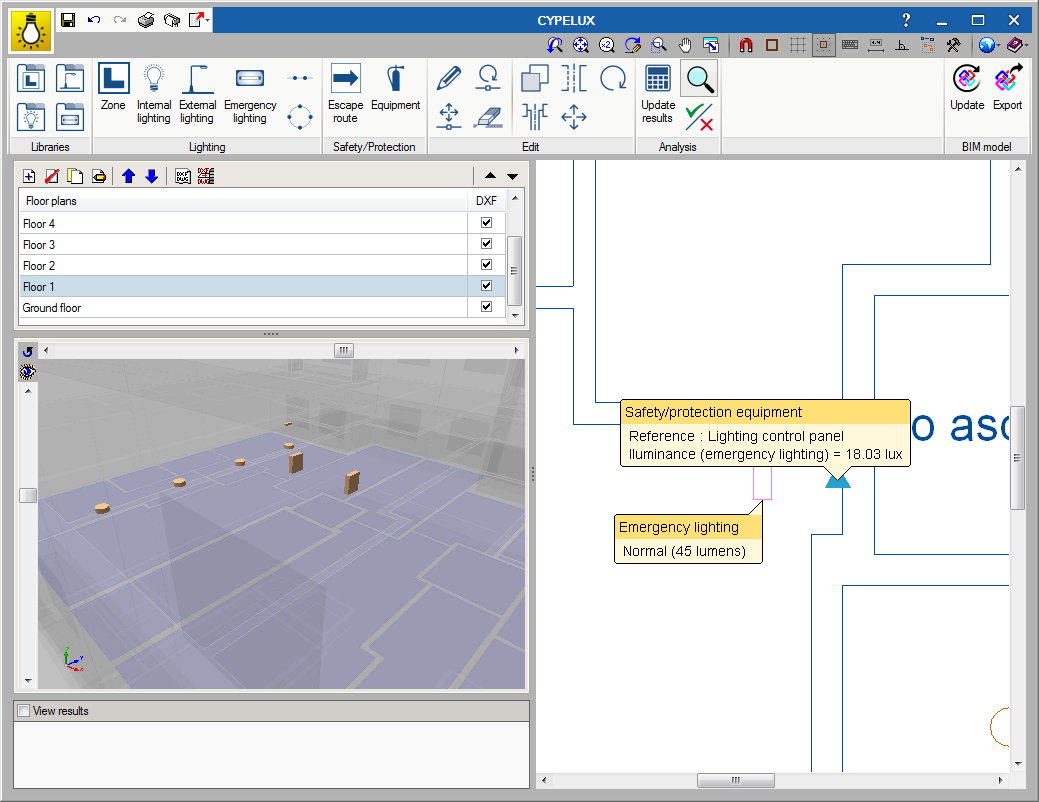 CYPELUX. Open BIM workflow in specialised CYPE tools